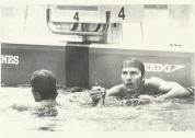 Jorge e Cyro se cumprimentam nos 100m Livre