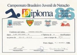 Diploma 100m borboleta