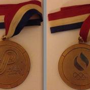 A medalha de OURO do Rebollal, frente e verso.