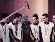Pirula, Tetê, Fidel, Rebollal e Manú: grandes amigos?