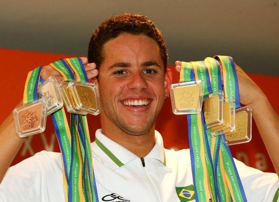 Thiago Pereira teve atuação memorável no Pan do Rio 2007.