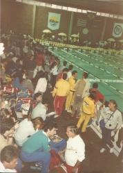 A área de estar dos nadadores também mudou muito pouco de 1987 para 2015.