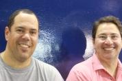 Tulião e Salsa, dois finalistas de Finkel do passado vieram torcer para o ECP