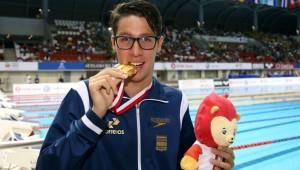 Branndon Almeida, campeão mundial junior nos 1500m Livre