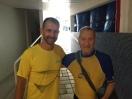 Pfaff, nadando os masters de 1988 e Sr Sebastião, 87 anos, 9o melhor do mundo nos 400m livre 85+