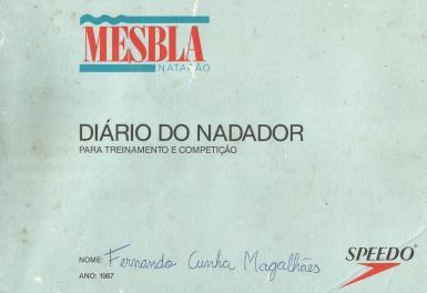 Capa do diário do nadador de 1987