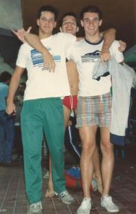 Eu, Castor e Edu de Poli - confraternizando ao final da competição.