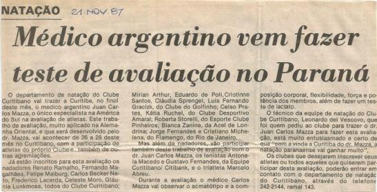 Mazza na Gazeta do Povo nov87