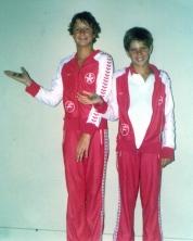 Minha primeira medalha oficial, regional no Ibirapuera, outubro de 1980, com André Fernandes.