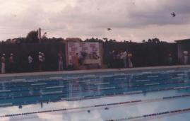 Revoada de pombos na abertura do Torneio.