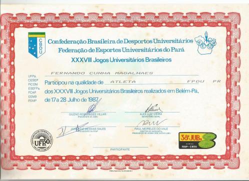1987 JUBs diploma