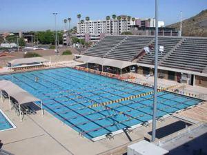 O bonito parque aquático da ASU. Hoje quem treina lá é o PEBA Phelps