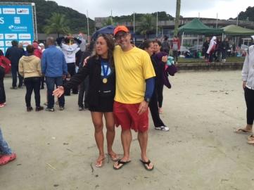 Patricia Farias completou a travessia Leme-Pontal neste último mês de Maio!