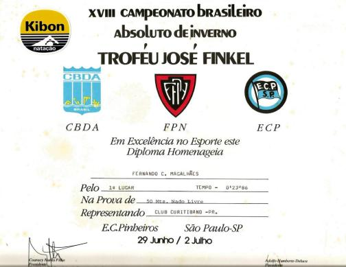 Diploma 50m livre
