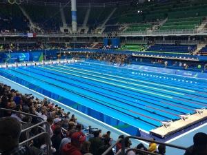 A piscina impressiona