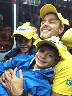 Cansados mas felizes no BRT