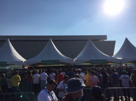 Chegando em Itaquera - ultimo evento Olímpico ao vivo