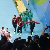 Phelps e sua última medalha!