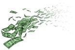 Vanishing Money - Dollar Bills