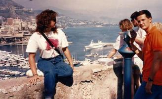 Com Isabele em Monte Carlo