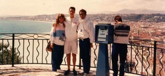 Com o casal Delgado no ponto mais alto de Nice
