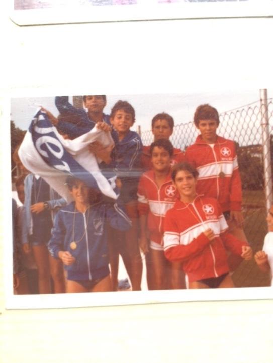 Com Rodrigo e André (e Roca) em Mococa 1983.