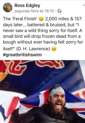 Uma nadada em 157 dias em volta da Inglaterra