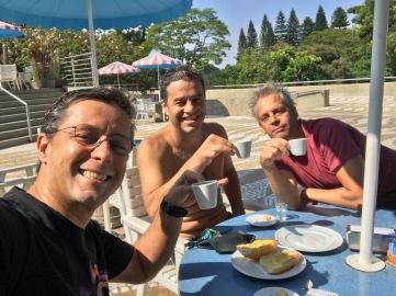 PEBA CPM café pós treino: eu, Rrruy e LAM